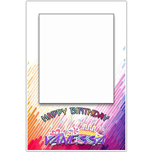 Colorful Birthday Party Selfie Frame Social Media Frame Photo Booth Prop - Moana Photo Frame