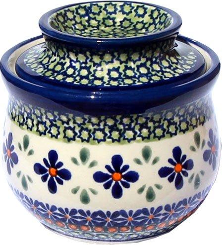 Polish Pottery French Butter Dish From Zaklady Ceramiczne Boleslawiec 1512-du60 Unikat Pattern