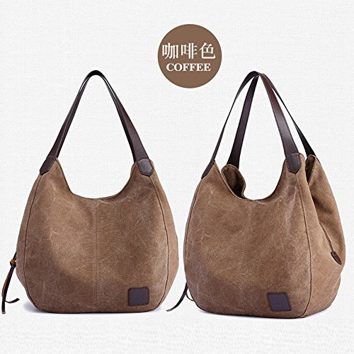 Single Pocket Canvas Shoulder Coffee Multi Bag Clearance Bags Tote Handbags Messenger Shopping Casual Sale Women's ZOMUSA wYxXS4P