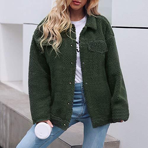 POTTOA Femme Laine Pull Coton Manteau Hiver Sweat Shirt rgwrASxRq