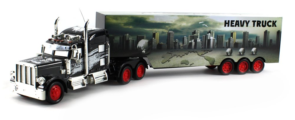 Charming Amazon.com: Heavy City 12 Semi Electric RC Truck Full Cargo Trailer 1:36  Scale RTR Ready To Run, Rechargeable: Toys U0026 Games