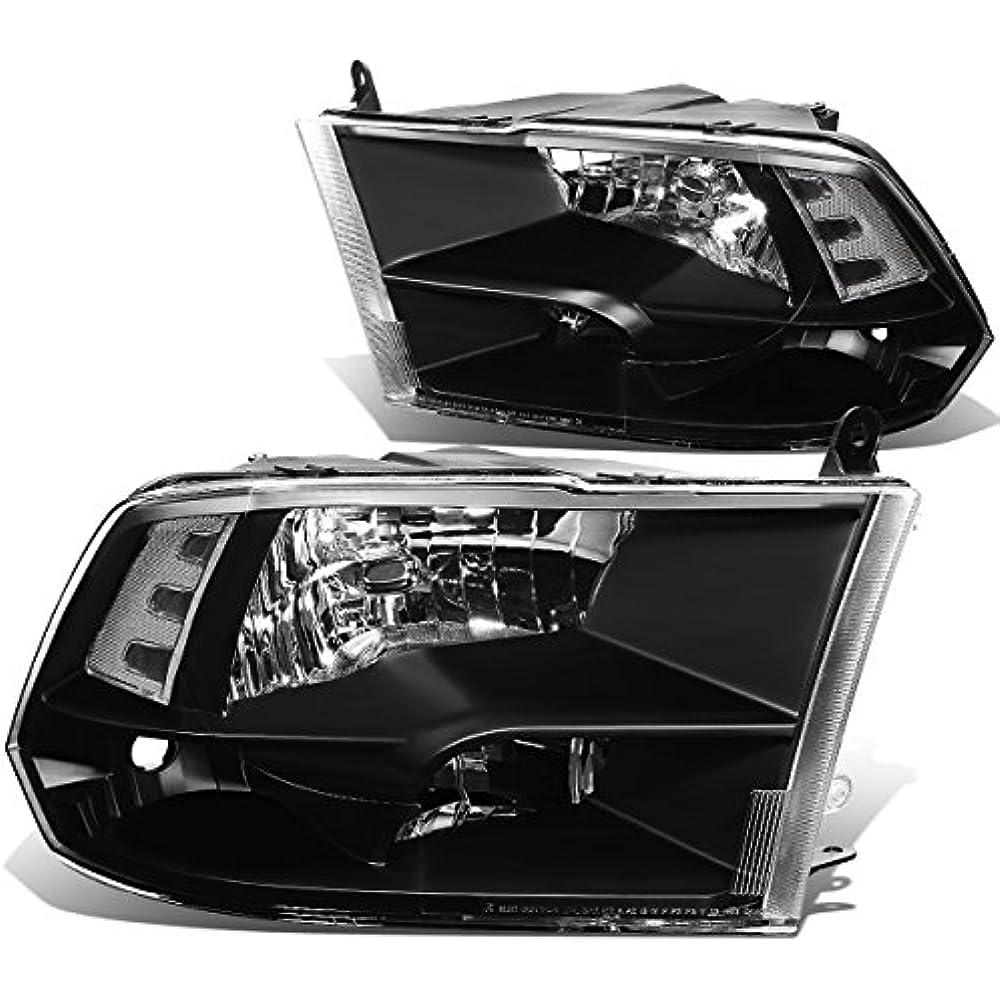 Driver /& Passenger Side DNA MOTORING HL-OH-CCOL044P-BK-AM Headlight Assembly