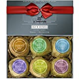 ArtNaturals Bath Bombs Gift Set - (6 x 4oz) - Ultra Essential Oil - Handmade Spa Bomb Fizzies - Organic and Natural Ingredients, Shea Butter for Moisturizing Dry Skin Relaxation in a Box