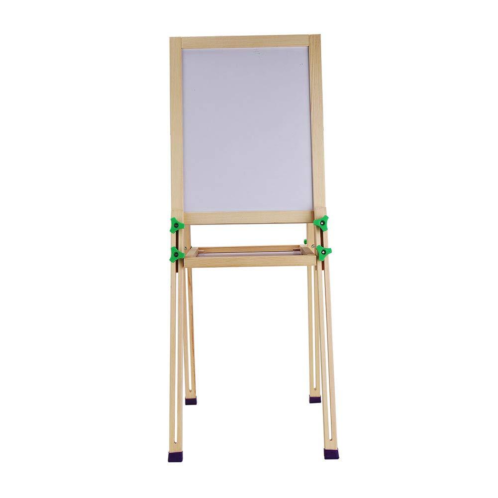 イーゼル 子供の木の絵画スタンドイーゼル小さな木製の調整可能なディスプレイ黒板の床ホワイトボードの描画ボード   B07GSZLF12