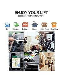 LoyaForba - Soporte de coche con clip para Pop (giratorio 360°, soporte de ventilación y soporte para salpicadero para navegación GPS, compatible con teléfono MAX 8, Note 8 S9+)