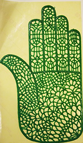 Hand Mehndi Henna Stencil - Real Rubber stick On Design (Rubber Stencils)
