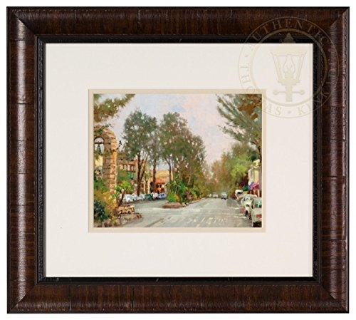 Art Signed Matted Print - Carmel, Ocean Ave II - Framed Matted Print Hand Signed by Thomas Kinkade