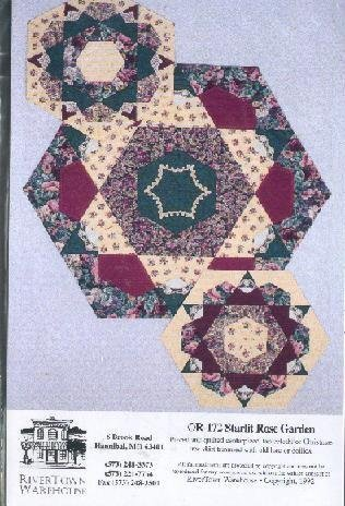 Starlit Rose Garden - 2 Quilted Designs [Centerpiece, Tablecloth or Tree Skirt]