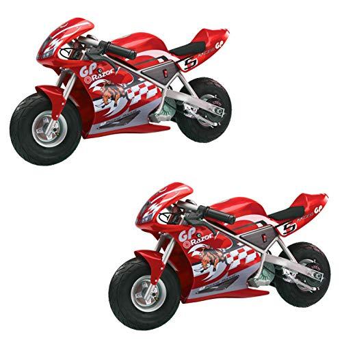 Razor Pocket Rocket Kids Mini Bike Ride On Electric Motorcycle, Red (2 Pack) - Pocket Rocket Mini Electric Motorcycle