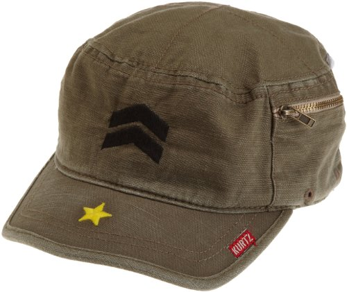A.Kurtz Mens Fritz Millitary Legion Cap, Fatigue, Small (French Small Brown Hat)