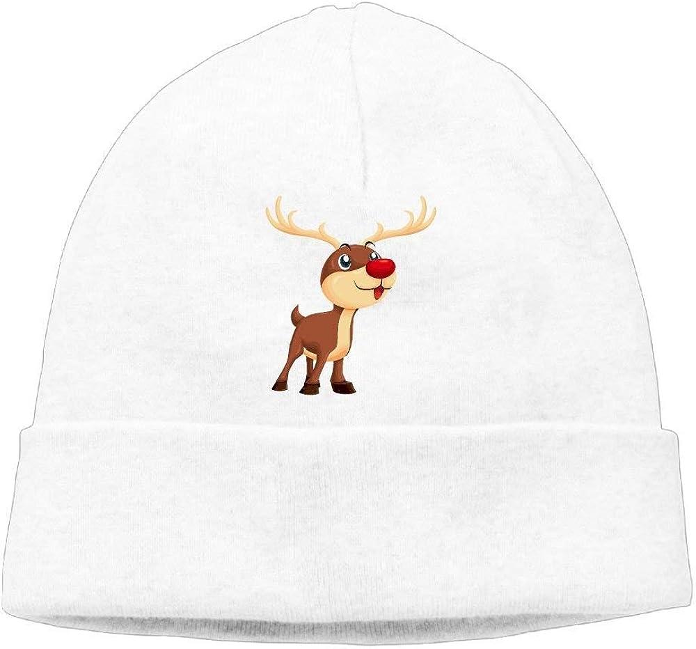 boy Unisex Cartoon Elk Xmas Classic Fashion Daily Beanie Hat Skull Cap Go Ahead