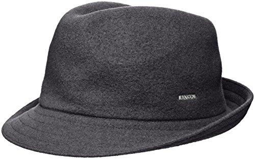 Kangol Hats Fedora (Kangol Unisex-Adults Wool Arnold Fedora Hat, Dark Flannel, L)