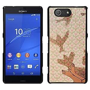 """Pulsar Snap-on Series Teléfono Carcasa Funda Case Caso para Sony Xperia Z3 Compact , Significado Profundo Metáfora del cabrito del niño"""""""