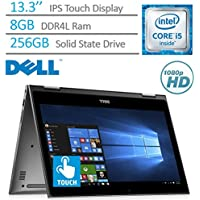 Dell Inspiron 13.3 2-in-1 Convertible FHD IPS (1920 x 1080) Touchscreen Laptop PC, Intel Core i5-7200U 2.5 GHz, 8GB DDR4 RAM, 256GB SSD, Backlit Keyboard, Bluetooth, HDMI, Windows 10