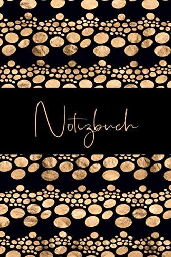 Notizbuch: Edel und Elegant in Schwarz und Gold, abstraktes Muster Design, Blanko Journal für Notizen, Liniert (German Edition) (Elegant Männer)
