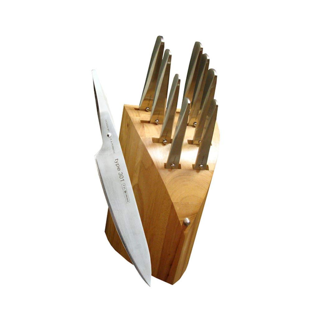 Chroma 9-Piece Knife Set with Block and Whetstone by Chroma