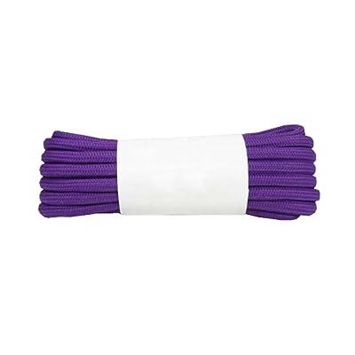 Lacets ronds pour Sneakers Chaussures de tennis Bottes 1 paire, violet