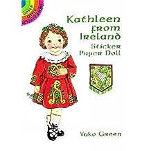 Kathleen from Ireland Sticker Paper Doll