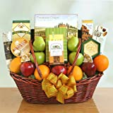 Share the Health Gift Basket with Fruit, Cheese, Meat, Nuts and More