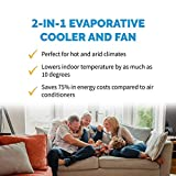 NewAir, AF-310, Portable Indoor Outdoor Evaporative Air Fan and Humidifier, Personal Swamp Cooler, 100 Square Foot Effective Range