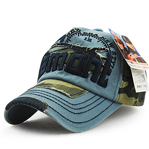 (camouflage baseball cap swag cap Casual Outdoor Sport snapback Hat for men Cap women gorra casquette Wholesale blue 56TO61CM)