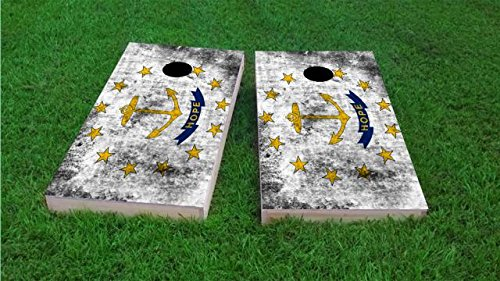 Italy Worn National Flag Cornhole Set, 2x4, 1x4 Frame (25% Lighter), Wood, Hand Painted by Floating Pong