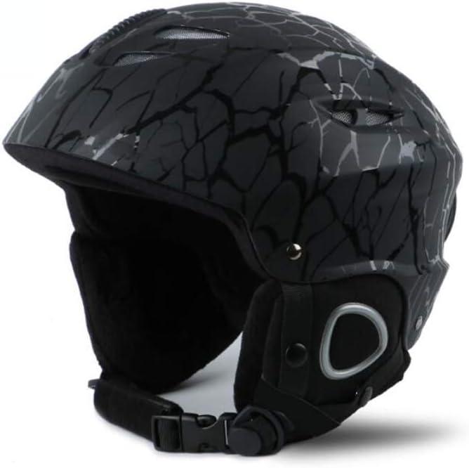 ヘルメット スキーヘルメット、アダルトスケート保護安全キャップスケートボードヘルメットCE認定調整可能な軽量ヘルメットウォーム通気性 ブラック L l