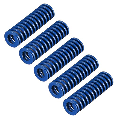 uxcell 8mm OD 25mm Long Spiral Stamping Light Load Compression Mould Die Spring Blue 5Pcs