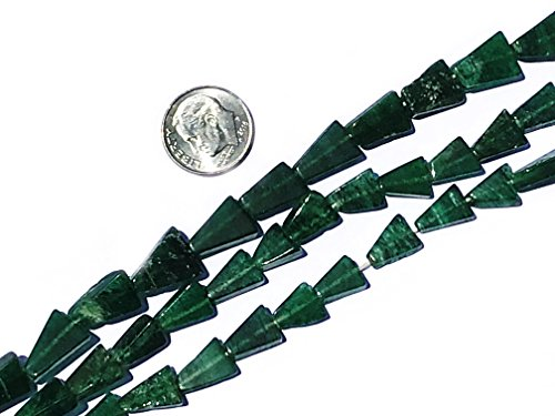 3 Pack Green Aventurine Natural Gemstone Beads for Jewelry 6x8mm-10x14mm Hand-Cut Flat Triangle