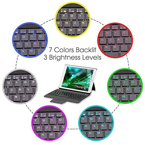 Apsung Keyboard Case New Tablet 9.7,Ultra-Thin Aluminum Portfolio Case, Wireless Smart Keyboard by Apsung (Image #1)