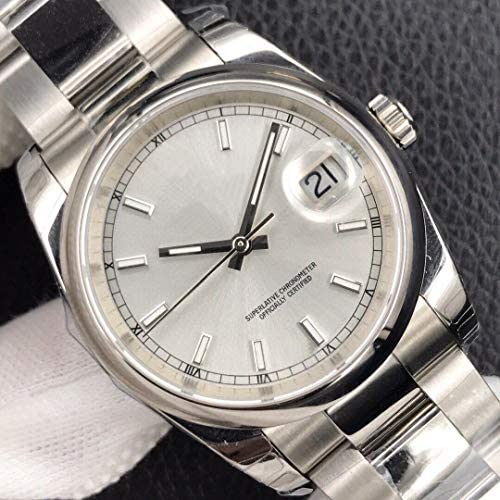 SANLUX ブランド新メンズ腕時計ステンレス鋼サファイアクリスタルシルバー黒ブレスレット腕時計 26 ミリメートルまたは 31 ミリメートル