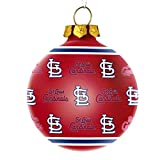 MLB St. Louis Cardinals Repeat Print Glass Ball Ornament, Red, One Size