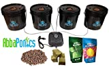 4 Site Hydroponic DWC Bucket System - Complete Grow Kit!