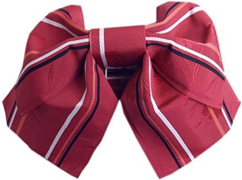 ウェブシンポジウム典型的な簡単浴衣柄結び帯付け帯作り帯濃赤色地撫子ライン 巻いてポン 日本製