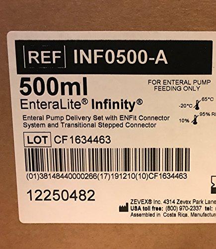 Feeding Pumps Enteralite - Moog 500ml Enteralite Infinity Bags 30 Count Box REF INF0500
