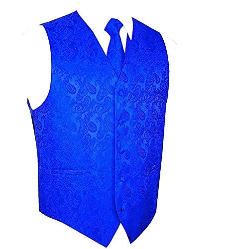 - Brand Q 3pc Paisley Vest Set-New Royal-L