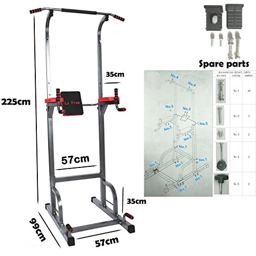 Lx Free Power Tower - Home Gym Adjustable Multi-Function Fitness Equipment Pull Up Bar Stand Workout Station by Lx Free (Image #1)