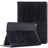 ipad Case for NEW iPad 2017, Vacio Luxury Book Style PU Leather Folio Stylish Stand Case Cover for NEW iPad 2017 (Black)