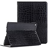 iPad Case for ipad Air 2, Vacio Luxury Book Style PU Leather Folio Stylish Stand Case Cover for ipad Air 2 (Black)