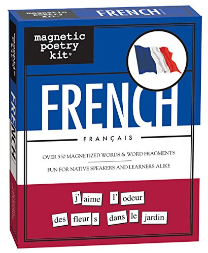 Magnetic Poetry - French Kit - Words for Refrigerator - Write Poems and Letters on the Fridge - Made in the USA