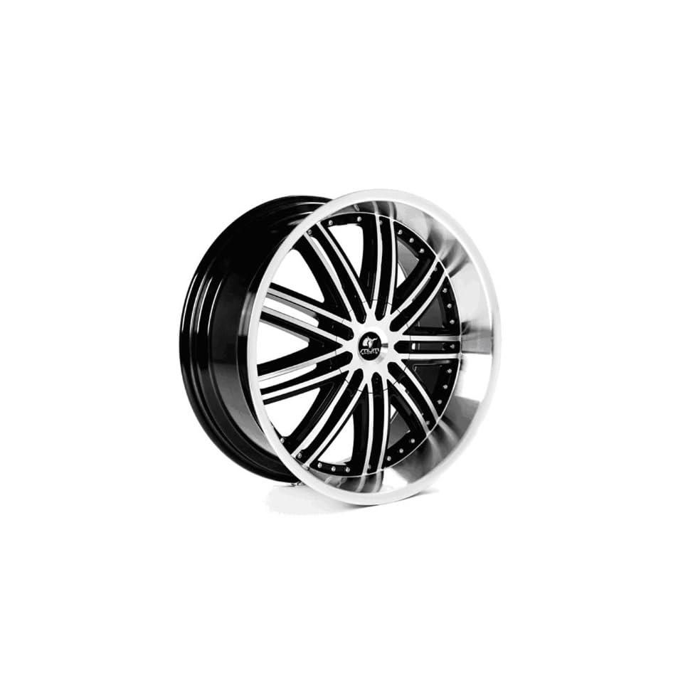 MUM Sports JS 09   22 inch Matte Black Machined Face Wheels Rims (22x9.5 6x135/139.7 ET+30)   SET OF 4