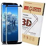 Galaxy S8 Screen Protector,S8 Glass Screen Protector,Linycase [Case Friendly] [Anti-Fingerprint] [Anti-Scratch] Tempered Glass Screen Protector for Samsung Galaxy S8-Black