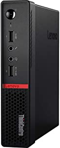 Lenovo ThinkCentre M715Q 2ND GEN - Tiny - 3.2 GHz Ryzen 5 Pro 2400GE Quad-Core - 8GB RAM - 256GB SSD WIN10 Pro Business Desktop with Microtella DisplayPort Cables (256 GB SSD)