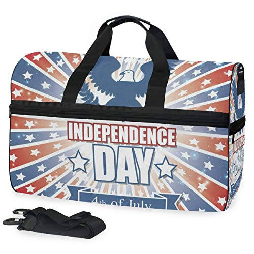 - Gym Bag Independence America Eagle Sport Duffle Holdall Bag Training Handbag Yoga bag for Men Women