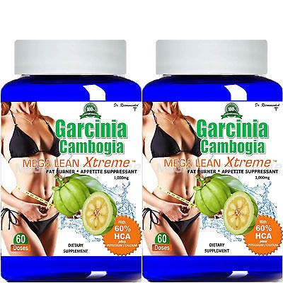 Garcinia Cambogia Extract Mega Lean Extreme 1000 mg Pure HCA Weight Loss/Appetite Suppressant Powder