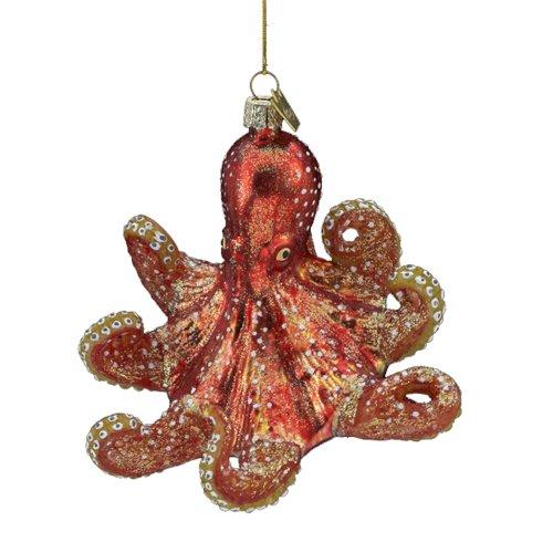 Kurt Adler 4-Inch Noble Gems Glass Octopus Ornament