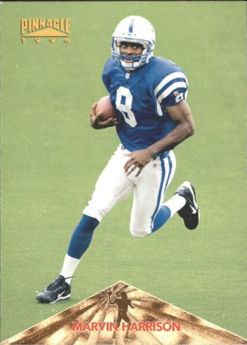 (1996 Pinnacle Football Rookie Card #166 Marvin Harrison)