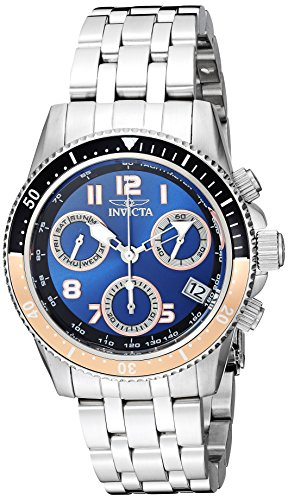 (Invicta Women's Pro Diver Quartz Watch with Stainless-Steel Strap, Silver, 20 (Model: 24639)