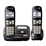 Panasonic KX-TG6592T DECT 6.0 Plus Cordless Phone Non Slip handset with Talking Caller ID Answering System- 2 -Handsets Cordless Phone (KX-TG6592T) (Renewed)