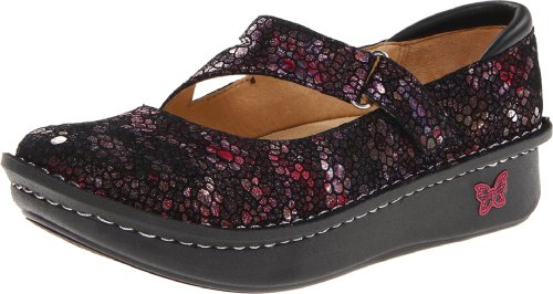 Alegria Women's Dayna Flat,Red Metallic Fun,36 Eu/6-6.5 M US by Alegria